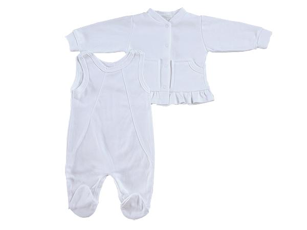 efa37d89c1 Pamut 2részes rugdalózó – fehér – Nicol Gyermekruha