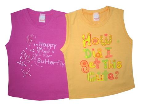 Ujjatlan lány póló - Happy