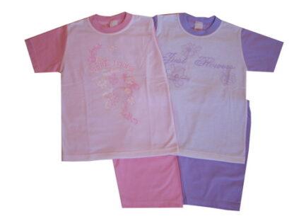 Nyári pamut lányka pizsama - Flowers