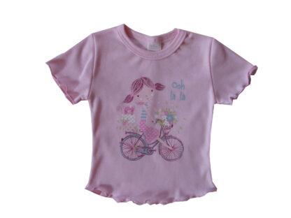 Rövid ujjú póló - Biciklis kislány