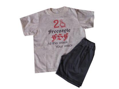 Nyári pamut fiú pizsama - fsf