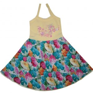 Pamut ruha - virágos szoknyával