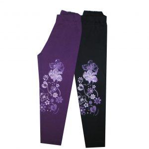 Leggings, bolyhos pamut - Virágok