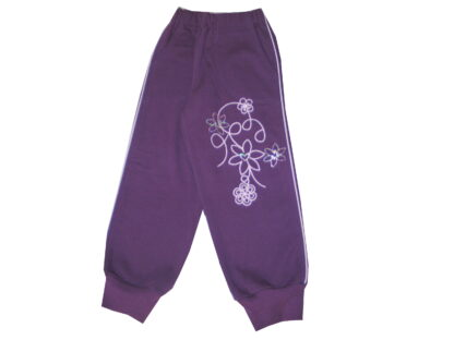 Szabadidő nadrág, bolyhos - Virágok