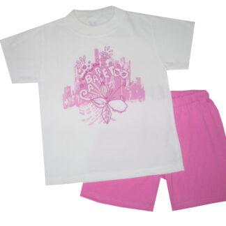 Nyári pamut lány pizsama - cabaret