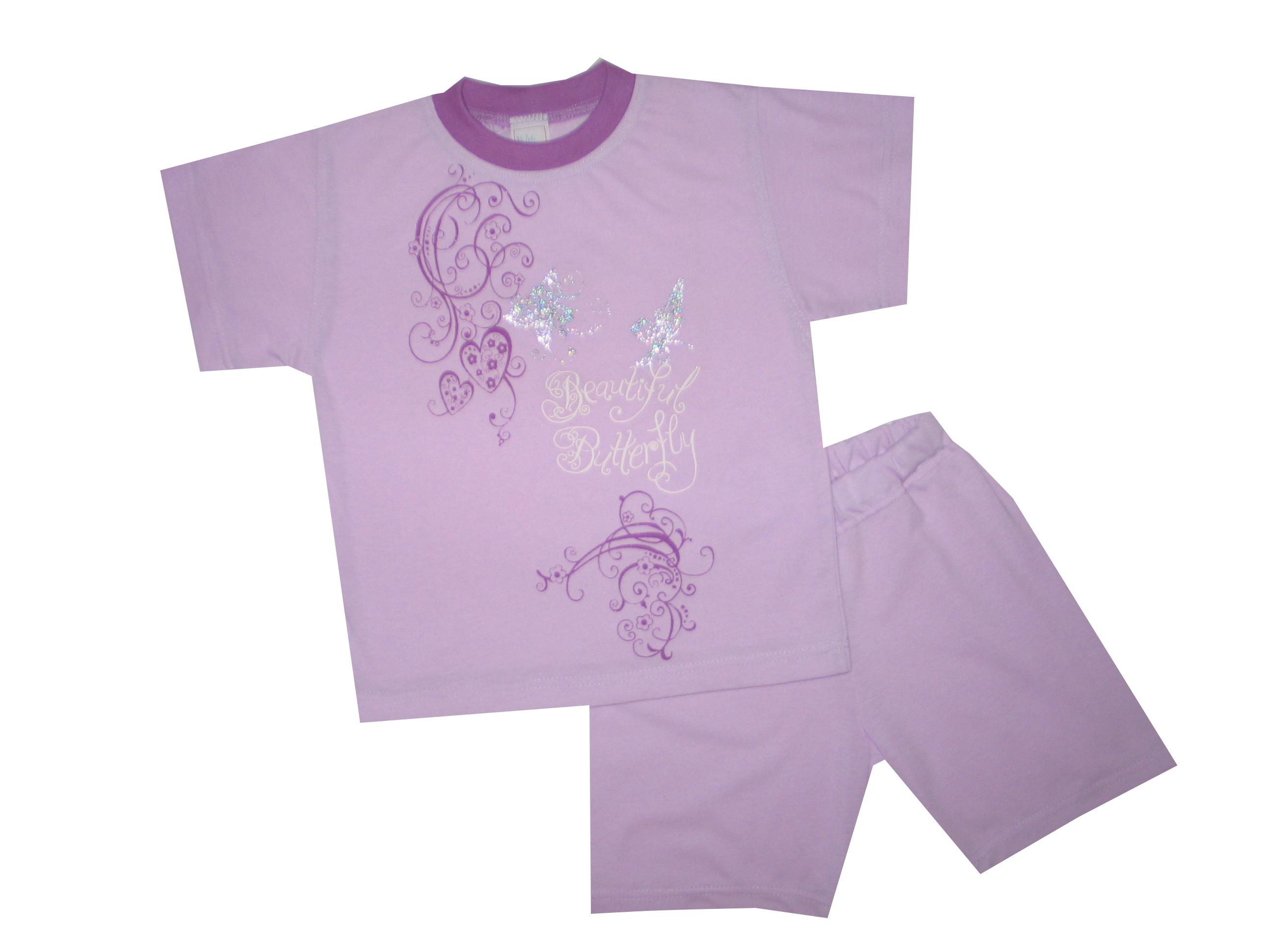 Nyári pamut lány pizsama - lepkés - Nicol Gyermekruha 4194bf1b7e