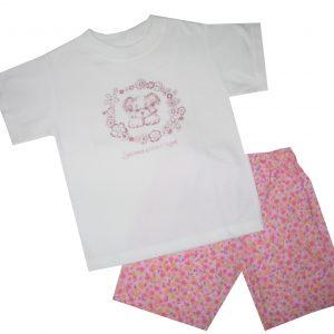 Nyári pamut lány pizsama - kutyus