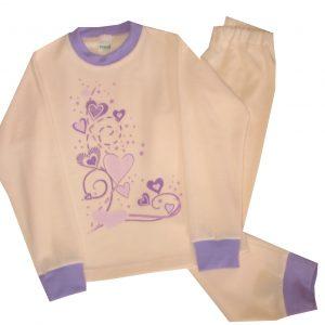 Pizsama, frottír -szívecskék