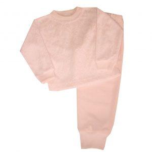 Pizsama, frottír - Rózsás