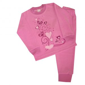 Pizsama, frottír - szívecskék
