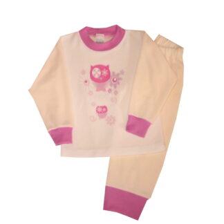 Pizsama, frottír - Bagolyka