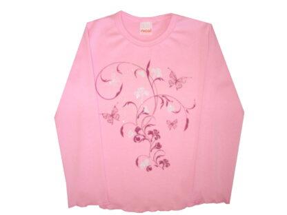 Hosszú ujjú póló - lepkék és virágok